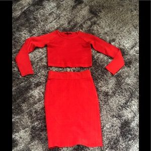 Two Piece Red Wow Couture set